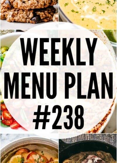 WEEKLY MENU PLAN 238 PIN IMAGE