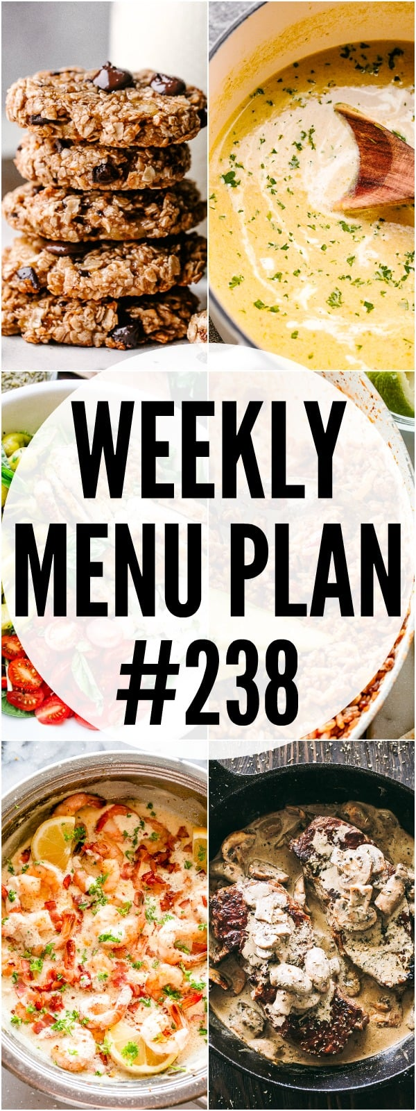 WEEKLY MENU PLAN 238 PIN IMAGE