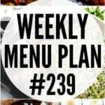 weekly menu plan 239 pin image