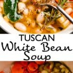 tuscan white bean soup pin image