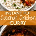 coconut chicken curry pinterest image