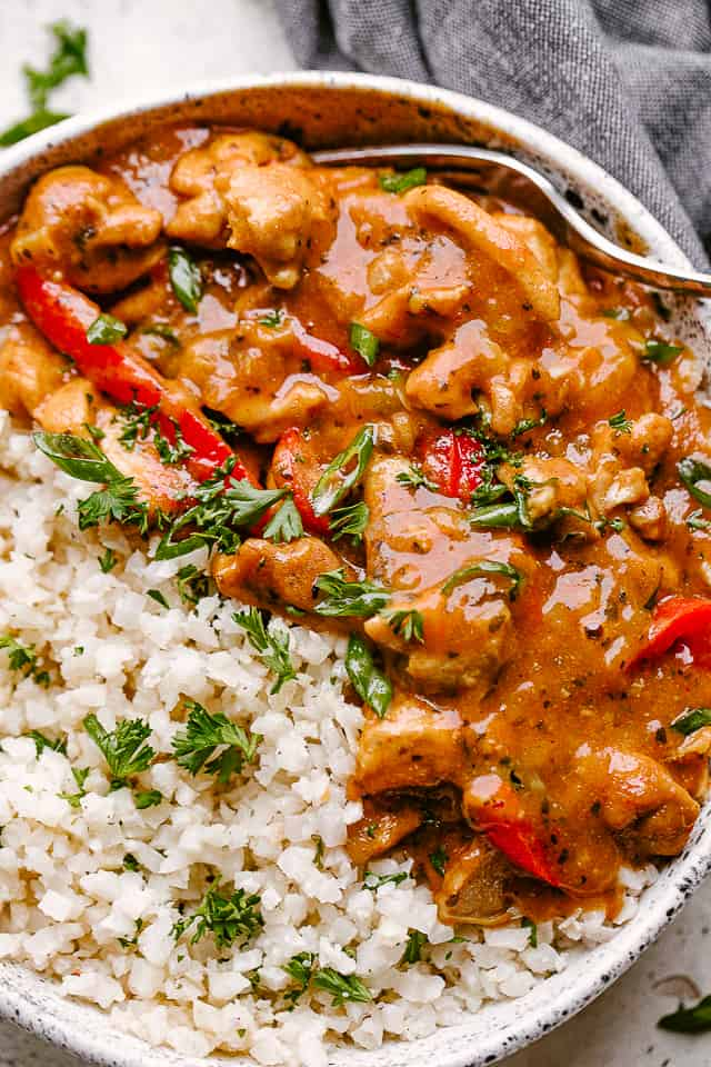 Instant Pot Coconut Chicken Curry Close Up