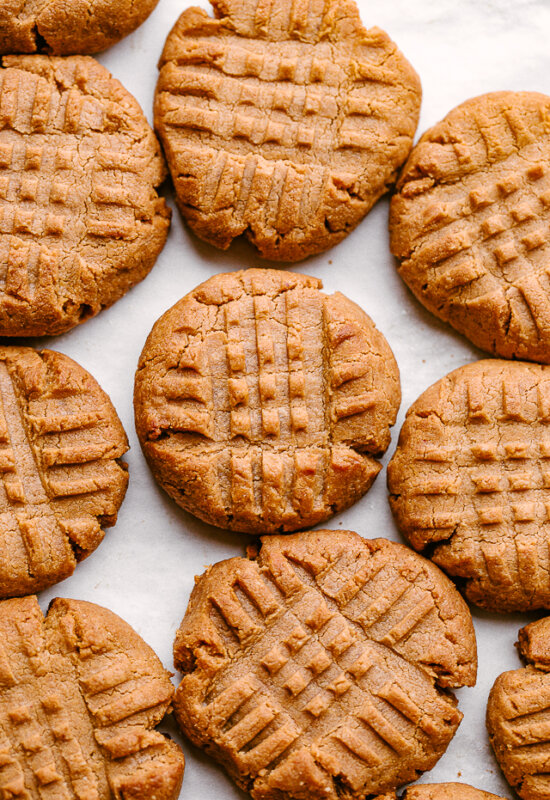 Peanut Butter Keto Cookies Close Up