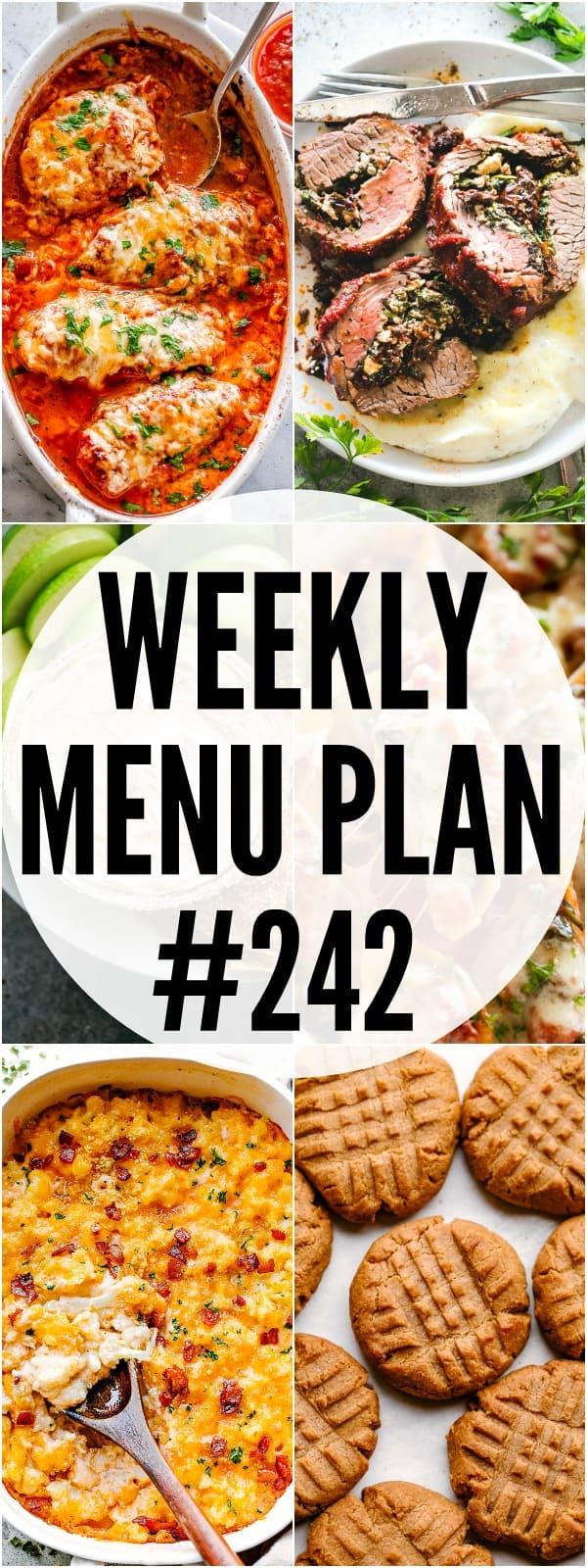weekly menu plan 242 pin image