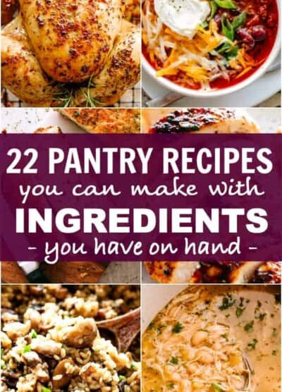 pantry recipes pinterest image