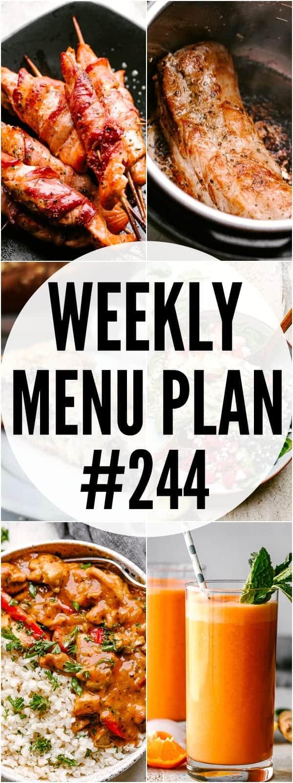 weekly menu plan 244 pinterest mage
