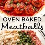oven baked meatballs pinterest image