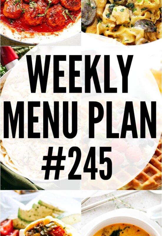 WEEKLY MENU PLAN #245 PINTEREST IMAGE
