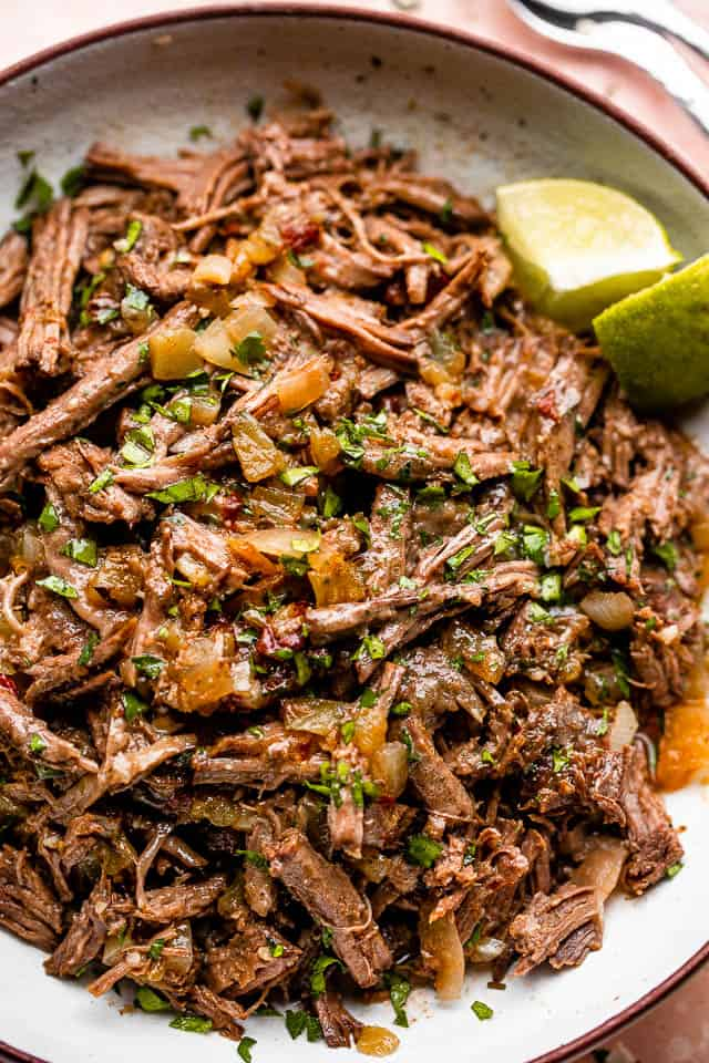 up close pulled beef barbacoa
