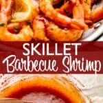 Skillet Barbecue Shrimp pinterest image