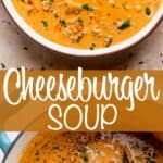 Cheeseburger Soup pinterest image