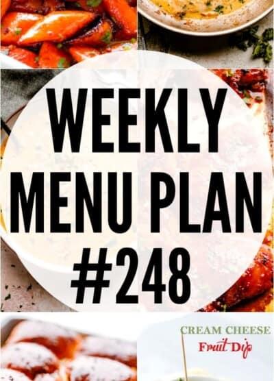 weekly menu plan #248 pinterest collage image