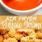 Air Fryer Buffalo Shrimp pinterest image