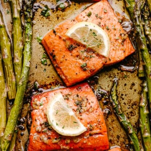 roasted sockeye salmon fillets with asparagus