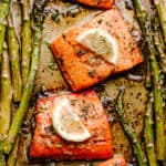 Baked Sockeye Salmon with Asparagus
