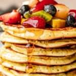 Fluffy Almond Flour Lemon Poppy Seed Pancakes | Low Carb & Keto-Friendly!
