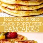 almond flour lemon poppy seed pancakes pinterest image