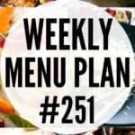WEEKLY MENU PLAN (#251) PINTEREST IMAGE