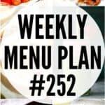 WEEKLY MENU PLAN (#252)