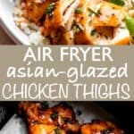AIR FRYER CHICKEN THIGHS long Pin Image