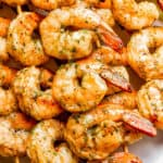 Garlic Basil Grilled Shrimp Skewers