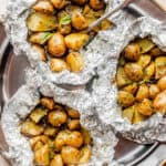 Basil Pesto Grilled Potatoes in Foil