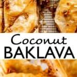 coconut baklava long pinterest image