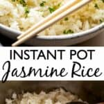 Instant Pot Jasmine Rice long pinterest image
