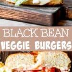 Black Bean Burgers Long pinterest image