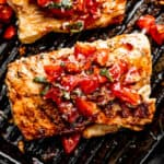 Grilled Mahi Mahi with Balsamic Tomato Salad