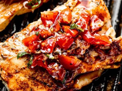 Mahi recipes food and wine Grilled Mahi Mahi With Balsamic Tomato Salad How To Cook Mahi Mahi