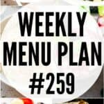 WEEKLY MENU PLAN (#259)