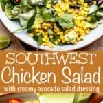 Southwest Chicken Salad Long Pinterest image