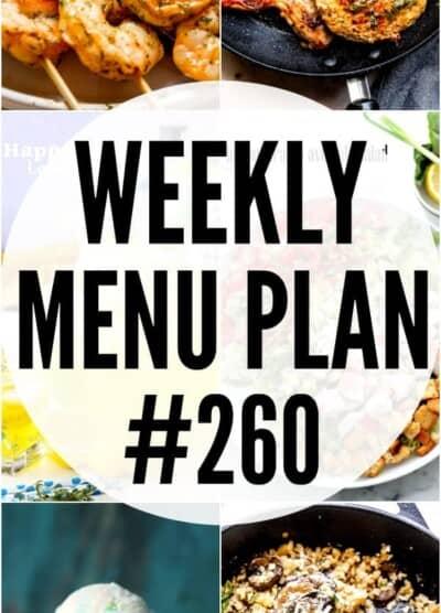 WEEKLY MENU PLAN #260 PINTEREST IMAGE