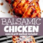 Balsamic Marinated Chicken Breasts pinterest image
