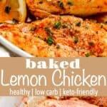 Baked Lemon Chicken long pinterest image