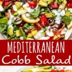 Mediterranean Cobb Salad long pinterest image