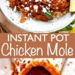 Instant Pot Chicken Mole long pinterest image