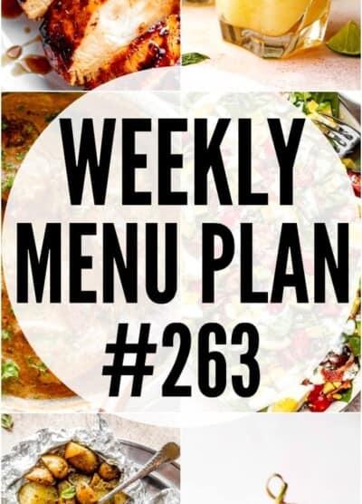 WEEKLY MENU PLAN #263 pinterest image