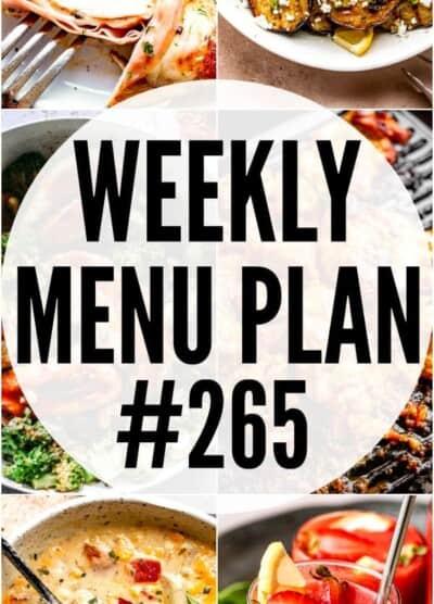 WEEKLY MENU PLAN #265 pinterest image