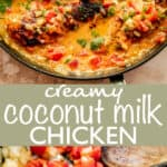 Coconut Milk Chicken Breasts Long Pinterest Image
