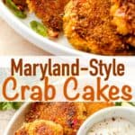 Maryland Crab Cakes long pinterest image