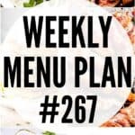 WEEKLY MENU PLAN (#267) pinterest image