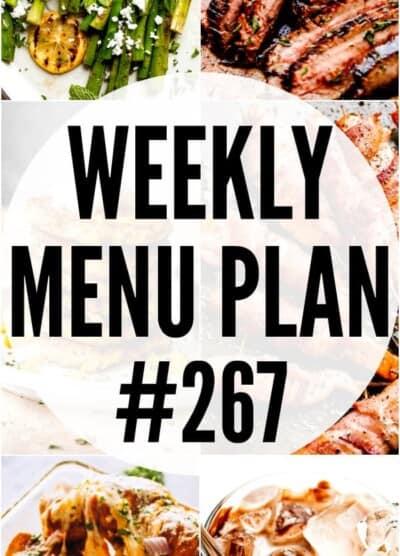 WEEKLY MENU PLAN (#267) pinterest image
