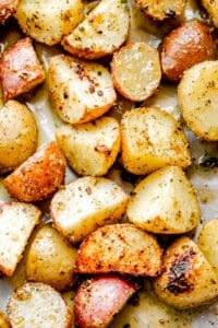 Crispy Air Fryer Potatoes with Herb Butter