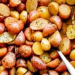 Lemon Garlic Oven-Roasted Potatoes