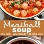 Meatball Soup long pinterest image