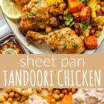 Sheet Pan Tandoori Chicken long pinterest image