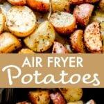 Crispy Air Fryer Potatoes long Pinterest Image
