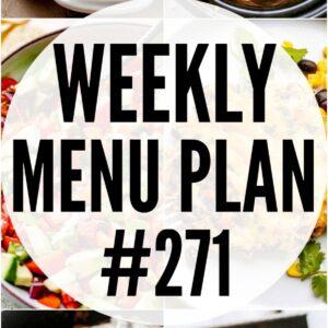 WEEKLY MENU PLAN #271 PIN IMAGE